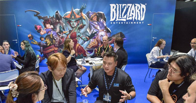 Neben dem XXL-Stand in der Entertainment Area der Gamescom 2018 belegte Activision Blizzard einen üppigen Stand im Business-Bereich (Foto: KoelnMesse / Thomas Klerx)