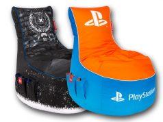 Gamewarez produziert den offiziellen PlayStation-Sitzsack in Lizenz von Sony Interactive (Abbildungen: Gamewarez)