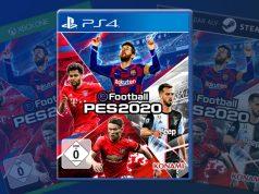 """Lionel Messi und Serge Gnabry sind zwei der vier Testimonials auf der deutschen Packung von """"eFootball PES 2020"""" (Abbildung: Konami)"""