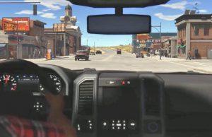 """Open-World-Spiel """"RAW"""" von Killerwhale Games: Autos lassen sich aus der Ego- und Verfolgerperspektiver steuern (Szene aus Kickstarter-Video)"""