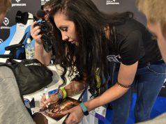 Saftiges Gnu (hier bei einer Autogrammstunde während der Gamescom 2018) zählt zu den erfolgreichsten deutschen Letsplayerinnen (Foto: KoelnMesse / Thomas Klerx)