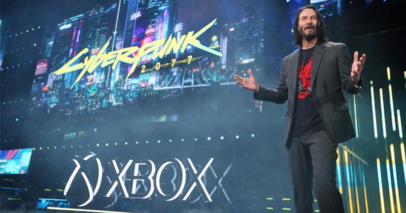 """Überraschungsgast Keanu Reeves verriet das Veröffentlichungsdatum von """"Cyberpunk 2077"""" (Foto: Microsoft / Casey Rodgers / Invision for Xbox / AP Images)"""