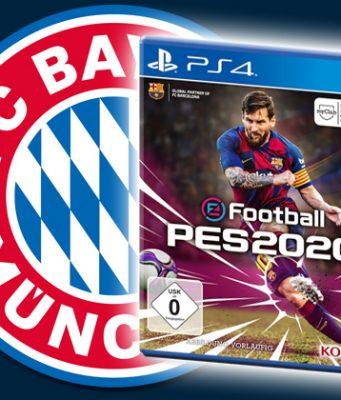 Transfer-Sensation beim FC Bayern München: Ab der Saison 2019/20 ist Konami offizieller Videospiel-Partner des Rekordmeisters (Abbildungen: FC Bayern München AG / Konami)