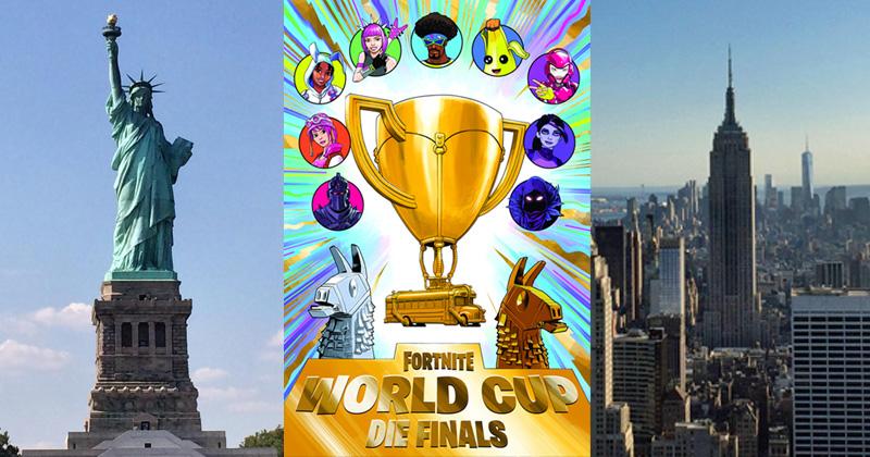 New York ist der Austragungsort der Fortnite WM 2019 (Fortnite World Cup Finals) vom 26. bis 28. Juli 2019 (Abbildungen: Epic Games / GamesWirtschaft)
