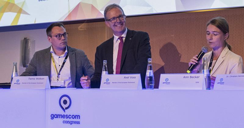 Politiker auf der Gamescom 2019: Europa-Abgeordneter Axel Voss (CDU) nimmt auch in diesem Jahr am Gamescom Congress teil (Foto: KoelnMesse / Oliver Wachenfeld)