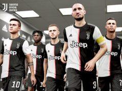 """Dybala, Kean, Pjanic, Chiellini, Ronaldo: Die Meistertruppe von Juventus Turin unterschreibt bei """"PES 2020""""-Hersteller Konami (Abbildung: Hersteller)"""