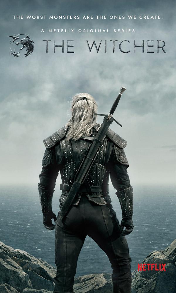 """Unverkennbar """"The Witcher"""": Netflix hat das offizielle Postermotiv zur Fantasy-Serie veröffentlicht (Abbildung: Netflix)"""