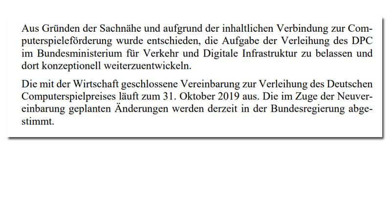 Heiter weiter: Auch der Computerspielpreis 2020 wird vom Verkehrsministerium organisiert (Antwort der Bundesregierung auf eine FDP-Anfrage)