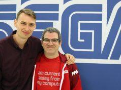 """Studio-Director Miles Jacobson (rechts, hier mit PR-Manager Tom Davidson) bindet den """"Football Manager 2020"""" von Anfang an in Google Stadia ein (Foto: GamesWirtschaft)"""
