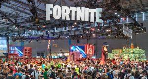 """Aus allen Nähten platzte der """"Fortnite""""-Stand auf der Gamescom 2018. Auf der Gamescom 2019 wird es keine vergleichbaren Szenen geben (Foto: KoelnMesse / Harald Fleissner)"""