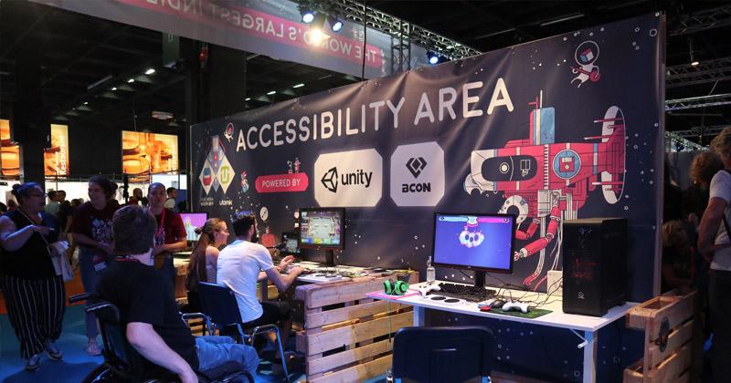 """Gamescom 2019 Bilanz: Der Indie Arena Booth widmete sich diesmal dem Thema """"Accessibility"""" (Foto: GamesWirtschaft)"""