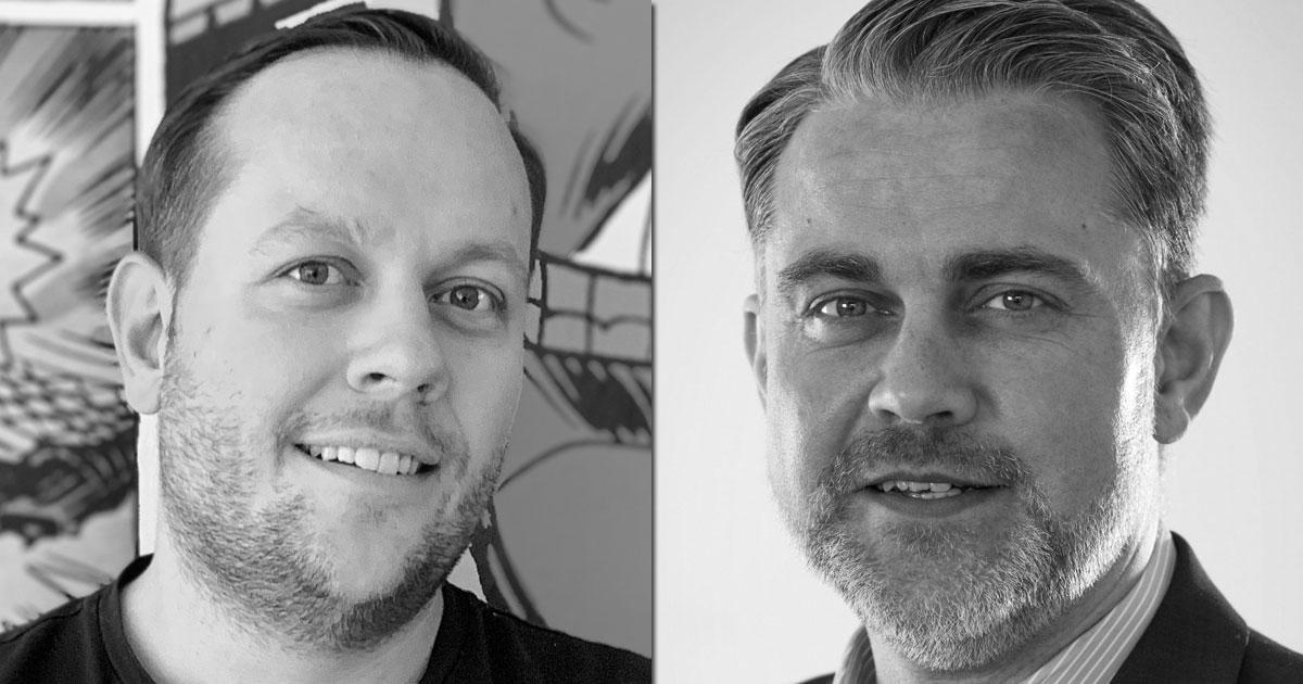 Zeuz-Co-Gründer Markus Schneider und Daedalic-CEO Carsten Fichtelmann kooperieren (Fotos: Zeuz / Daedalic)