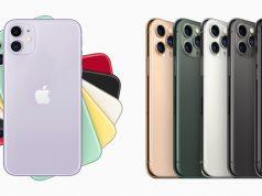 Links das neue iPhone 11 (699 Dollar) - rechts das Spitzenmodell iPhone 11 Pro (ab 999 Dollar) - Abbildungen: Apple