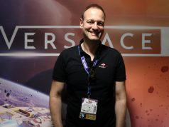 "Zufrieden mit dem Fan-Feedback zu ""Everspace 2"": Rockfish-Games-Gründer Michael Schade auf der Gamescom 2019 (Foto: GamesWirtschaft)"