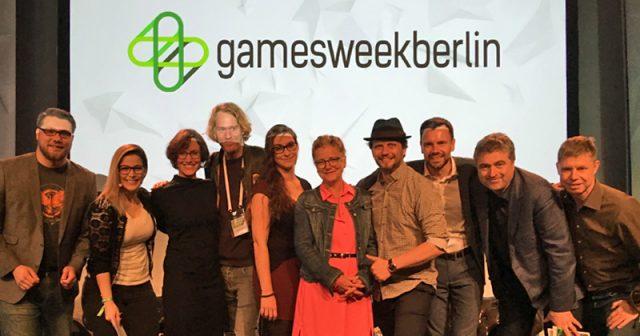 Mit dem Indie-Games-Festival ist Thorsten Wiedemann (vierter von links) fester Bestandteil der Games Week Berlin (Foto: GamesWirtschaft)