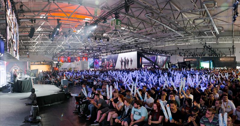 Lokalmatador: Im Auftrag der KoelnMesse betrieb die ESL die neue Event Arena auf der Gamescom 2019 (Foto: ESL / Simon Howar)