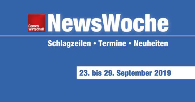 NewsWoche KW 39/2019: Schlagzeilen, Termine und Neuheiten für die Woche vom 23. bis 29. September 2019