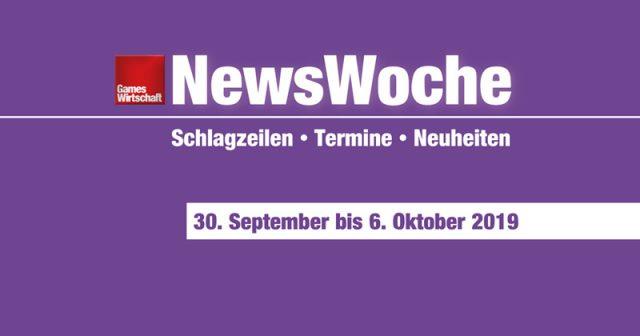 Schlagzeilen, Termine und Neuheiten der Kalenderwoche 40 (30. September bis 6. Oktober 2019)