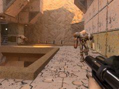 """Neue Licht- und Schatten-Effekte sorgen in der """"Quake 2 RTX""""-Fassung für einen ungewohnten Look (Abbildung: Bethesda)"""