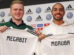 "Michael Bittner (""MegaBit"") und Mohammed Harkous (""MoAuba"") bilden 50 Prozent der deutschen eNationalmannschaft (Foto: DFB / Getty Images)"