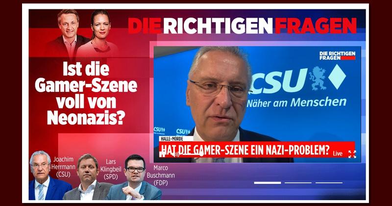 Bild.de-Homepage vom 14. Oktober 2019: Herrmann, Buschmann und Klingbeil stellen sich den Fragen von Nikolaus Blome und Anna von Bayern (Abbildung: Screenshot)