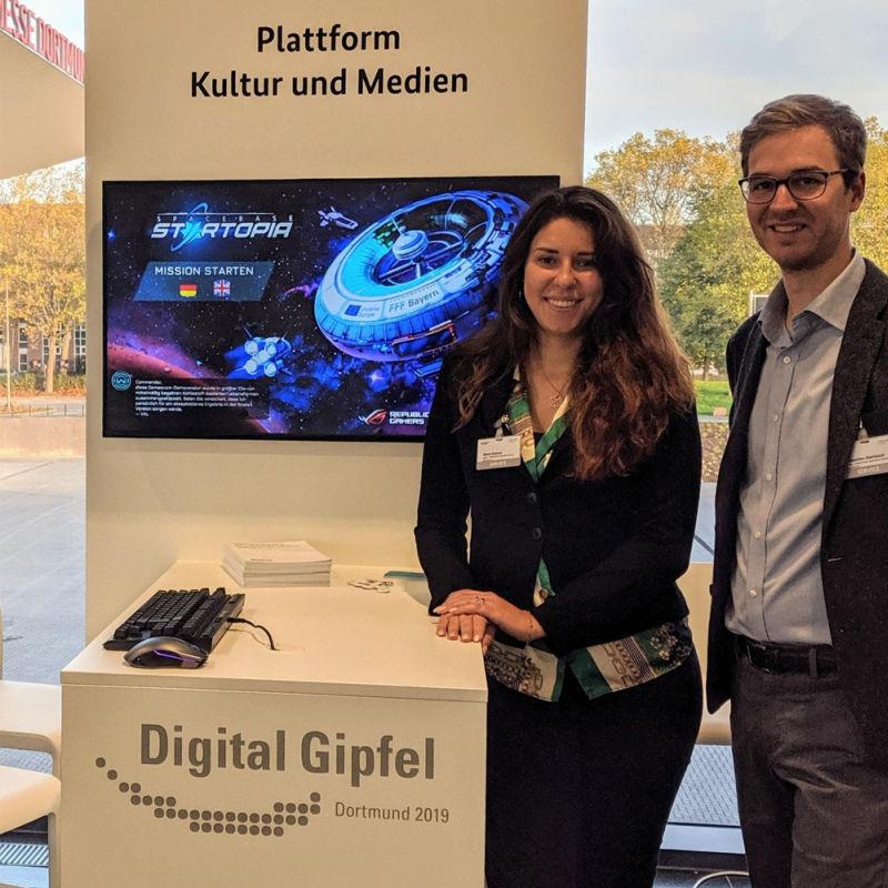 Vertreten die deutsche Videospiel-Industrie beim Digitalgipfel 2019: Maria Zubova (Kalypso Media) und Sebastian Steinbach (Game) - Foto: Game-Verband