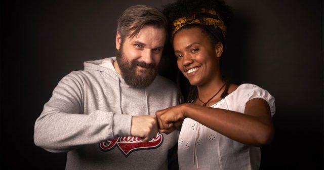 Letsplayer Erik Range alias Gronkh und Stadtgärtnerin Alice sind Testimonials der Misereor-Kampagne
