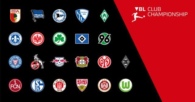 Diese 22 Bundesliga-Vereine beteiligen sich an der VBL Club Championship 2019/2020 (Abbildung: DFL)