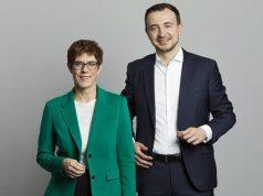 CDU-Chefin Annegret Kramp-Karrenbauer und Generalsekretär Paul Ziemiak (Foto: CDU / Laurence Chaperon)