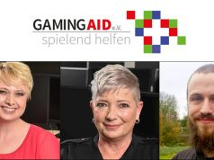 Der wiedergewählte Gaming-Aid-Vorstand: Svenja Bhatty, Christiane Gehrke und Kassenwart Jerome Zenker (Fotos: Gaming-Aid e. V.)