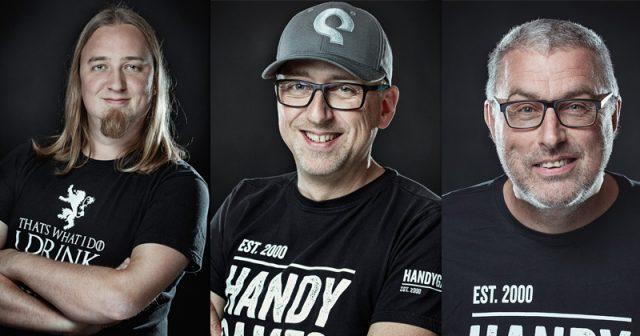 Das Management von HandyGames: Christopher Kassulke, Markus Kassulke und Udo Bausewein (von links - Foto: HandyGames GmbH)