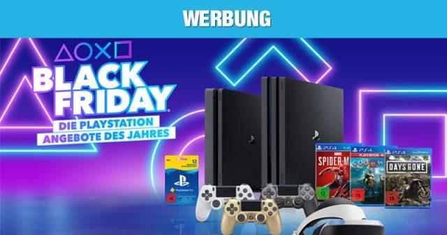 Vom 28. November bis zum 2. Dezember 2019 gelten die PlayStation 4 Black-Friday-Rabatte (Abbildung: Sony Interactive)