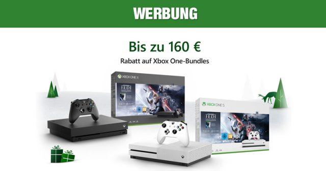 Aktuelle Konsolen-Bundles für 169 Euro: Bis 2. Dezember läuft der Xbox Black Friday 2019 (Abbildung: Microsoft)