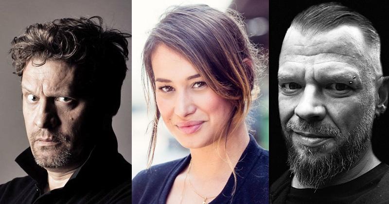 """Benjamin Völz, Flavia Vinzens und Björn Schalla sind die deutschen Stimmen der """"Cyberpunk 2077""""-Hauptrollen (Fotos: CD Projekt Red)"""