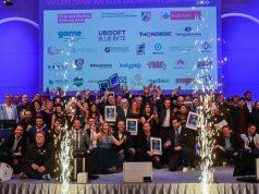 Gewinner, Laudatoren und Moderatoren beim Deutschen Entwicklerpreis 2019 am 11.12. in Köln (Foto: Editorial247.com)
