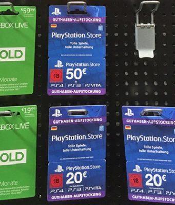 Geschenk-Gutscheine - hier für Xbox, PlayStation und Steam - gibt es in allen Preisklassen (Foto: GamesWirtschaft)