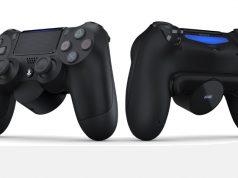 Das DualShock 4 Rücktasten-Ansatzstück wird einfach an die Rückseite des Controller geklickt (Abbildung: Sony Interactive)