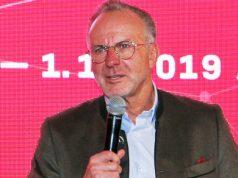 Bayern-Boss Karl-Heinz Rummenigge beim Auftakt des FC Bayern Digital Campus am 1.12. in München (Foto: Fröhlich)