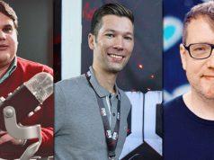 Die drei Top-Personalien des Jahres: Xbox-Neuzugang Sandro Odak, Gronkh-Manager Philip Schulte und Rocket-Beans-Manager Heiko Gogolin (Fotos: James Zabel / Fröhlich / Rocket Beans TV)