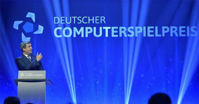 Wie schon 2018 fungiert Ministerpräsident Markus Söder (CSU) als Gastgeber für den Deutschen Computerspielpreis 2020 in München (Foto: Getty Images / Hannes Magerstedt)