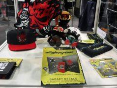 """Auszug aus dem Jinx-Merchandise-Sortiment für """"Cyberpunk 2077"""" (Foto: GamesWirtschaft)"""