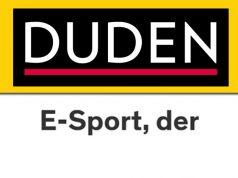 """Wie schreibt man E-Sport? Laut Duden ist sowohl """"E-Sport"""" als auch """"E-Sports"""" möglich (Abbildung: Duden-Verlag)"""
