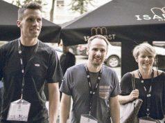 Geschäftsführer Tim Potschka (links) mit Grafiker Stefan Hartmann und Eleven-Media-Gründerin Tanja Gemeinhardt (Foto: privat)