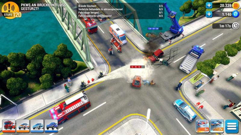 """Der Mobile-Ableger """"Emergency HQ"""" wird als Free2Play-Spiel vertrieben (Abbildung: Promotion Software)"""