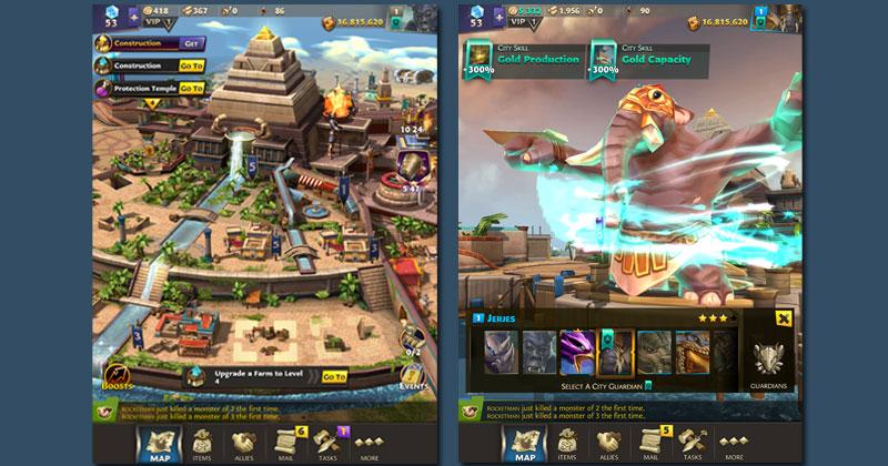 """InnoGames wird das Mobile-Game """"God Kings"""" nicht weiterentwickeln (Abbildungen: InnoGames)"""
