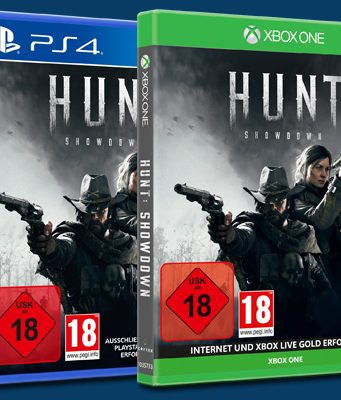 """Ab 18. Februar 2020 im Handel: die PS4- und Xbox-One-Versionen von """"Hunt: Showdown"""" (Abbildung: Koch Media)"""