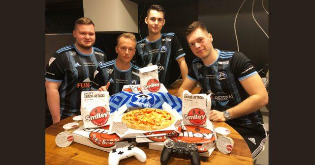 Neuer Sponsor von HSV eSports: Pizza-Lieferdienst Smiley's (Foto: HSV)