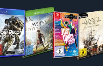 Ubisoft Wintersale 2020: Just Dance 2020, Anno 1800 und Ghost Recon Breakpoint stark reduziert (Abbildungen: Ubisoft)