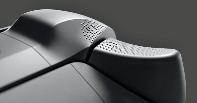Geriffelte Bedienelemente und abgerundete Flächen sollen zum Komfort des neuen Xbox Series X-Controllers beitragen (Foto: Microsoft)