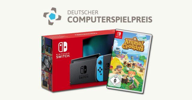 Wird unter den Teilnehmern der Abstimmung zum DCP 2020 Publikumspreis verlost: Nintendo Switch inklusive Animal Crossing (Abbildung: Nintendo)